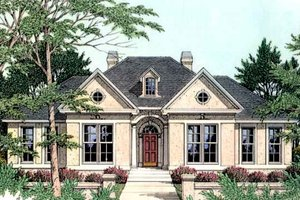 European Exterior - Front Elevation Plan #406-233