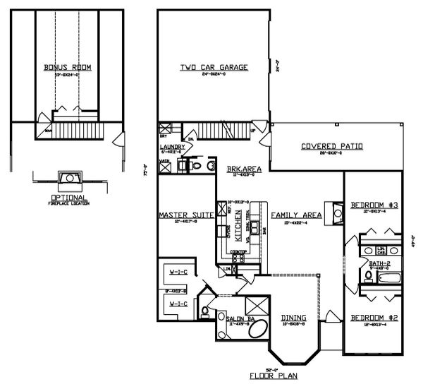 Traditional Floor Plan - Main Floor Plan #405-335