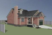 House Plan Design - Bungalow Exterior - Rear Elevation Plan #79-307