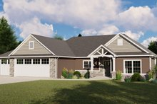 Architectural House Design - Ranch Exterior - Front Elevation Plan #1064-87