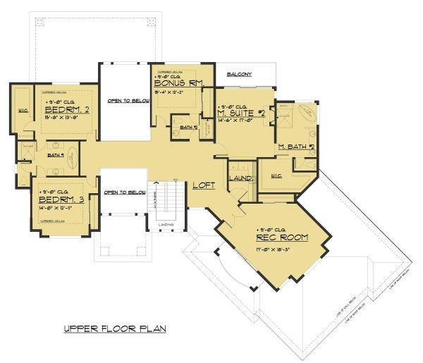 Dream House Plan - Contemporary Floor Plan - Upper Floor Plan #1066-73