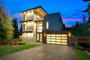 Modern Style House Plan - 4 Beds 3.5 Baths 3595 Sq/Ft Plan #1066-3 Exterior - Front Elevation