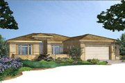 Adobe / Southwestern Style House Plan - 3 Beds 2.5 Baths 2132 Sq/Ft Plan #24-283 Exterior - Front Elevation