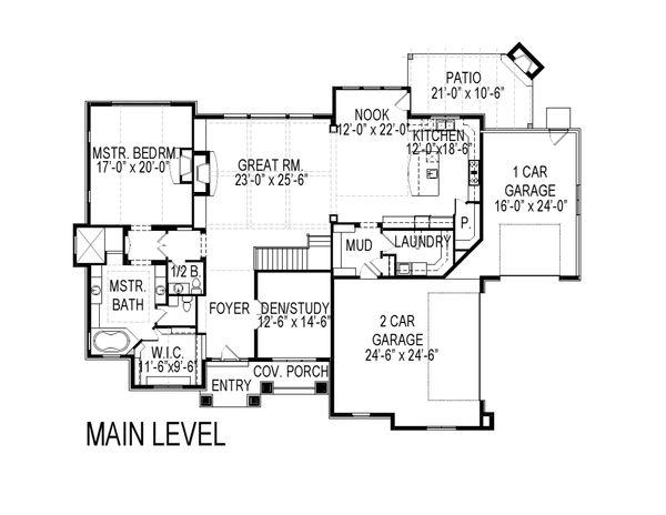 Traditional Floor Plan - Main Floor Plan Plan #920-19
