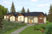 Traditional Style House Plan - 3 Beds 2 Baths 1627 Sq/Ft Plan #117-298 Exterior - Front Elevation