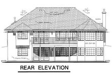 European Exterior - Rear Elevation Plan #18-149