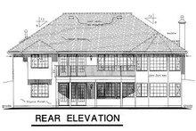 House Blueprint - European Exterior - Rear Elevation Plan #18-149