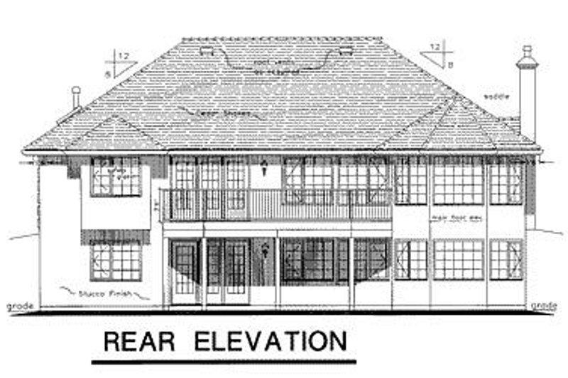 European Exterior - Rear Elevation Plan #18-149 - Houseplans.com