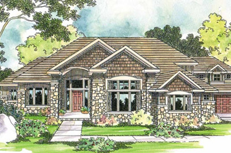 Traditional Exterior - Front Elevation Plan #124-541 - Houseplans.com