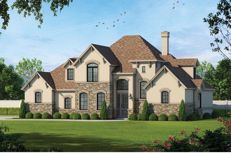 Architectural House Design - Mediterranean Exterior - Front Elevation Plan #20-256