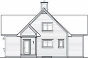 Country Style House Plan - 2 Beds 2 Baths 1480 Sq/Ft Plan #23-757 Exterior - Rear Elevation