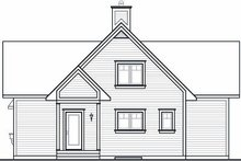 House Plan Design - Country Exterior - Rear Elevation Plan #23-757