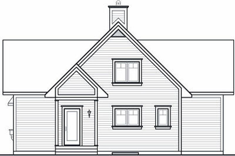 Country Exterior - Rear Elevation Plan #23-757 - Houseplans.com