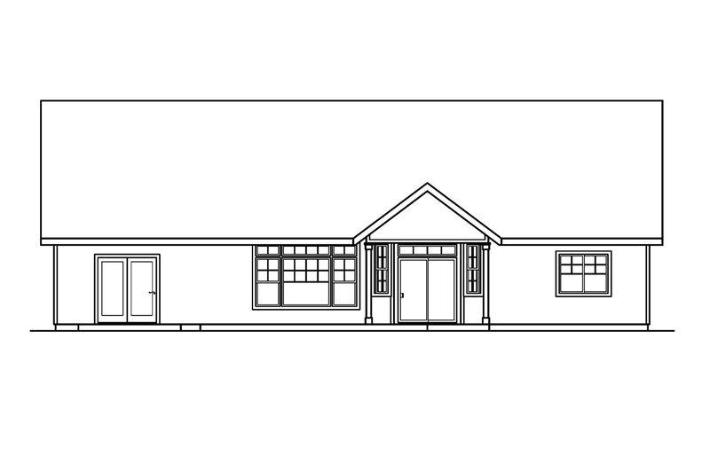Craftsman Exterior - Rear Elevation Plan #124-504 - Houseplans.com