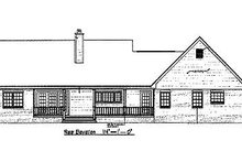 Country Exterior - Rear Elevation Plan #14-232