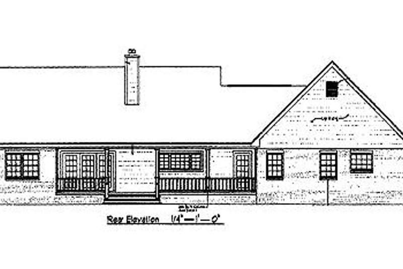 Country Exterior - Rear Elevation Plan #14-232 - Houseplans.com