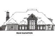 European Style House Plan - 4 Beds 3.5 Baths 4392 Sq/Ft Plan #310-645 Exterior - Rear Elevation
