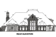 European Exterior - Rear Elevation Plan #310-645
