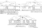 Traditional Style House Plan - 3 Beds 2.5 Baths 1673 Sq/Ft Plan #5-116 Exterior - Rear Elevation