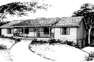 Ranch Exterior - Front Elevation Plan #10-134