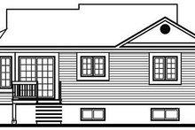 Traditional Exterior - Rear Elevation Plan #23-106