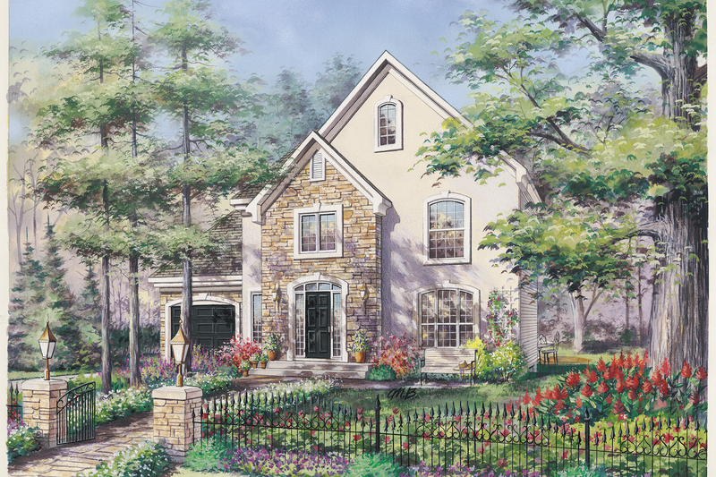 Traditional Style House Plan - 3 Beds 1 Baths 1300 Sq/Ft Plan #25-4783 Exterior - Front Elevation