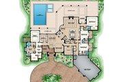Mediterranean Style House Plan - 4 Beds 4.5 Baths 7953 Sq/Ft Plan #27-548
