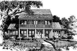 Southern Exterior - Front Elevation Plan #135-120