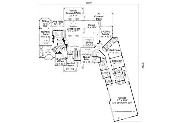Craftsman Floor Plan - Main Floor Plan Plan #124-1163