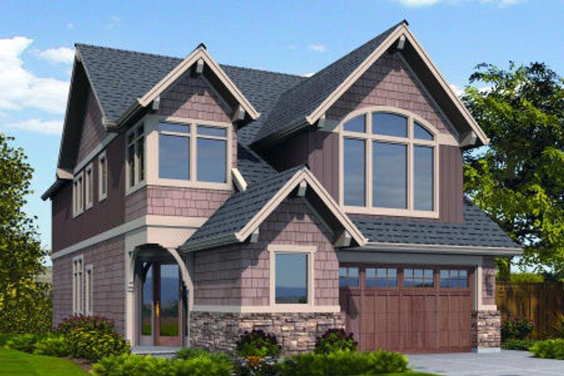 Dream House Plan - Craftsman Exterior - Front Elevation Plan #48-264