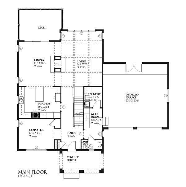 Traditional Floor Plan - Main Floor Plan #901-50
