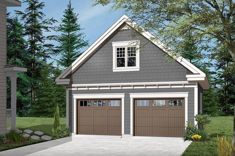 Architectural House Design - Craftsman Exterior - Front Elevation Plan #23-2477