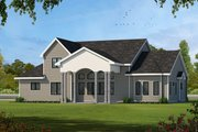 Country Style House Plan - 4 Beds 4 Baths 3247 Sq/Ft Plan #20-2133 Exterior - Front Elevation