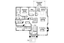 Prairie Floor Plan - Main Floor Plan Plan #124-1122