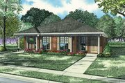 Southern Style House Plan - 3 Beds 2 Baths 2406 Sq/Ft Plan #17-1096 Exterior - Front Elevation