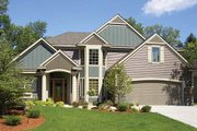European Style House Plan - 3 Beds 2.5 Baths 3117 Sq/Ft Plan #320-484 Exterior - Front Elevation