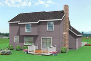 Traditional Style House Plan - 3 Beds 2.5 Baths 1521 Sq/Ft Plan #75-129 Exterior - Rear Elevation