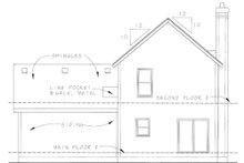 Home Plan Design - Cottage Exterior - Rear Elevation Plan #20-1209