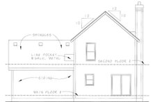 Home Plan - Cottage Exterior - Rear Elevation Plan #20-1209