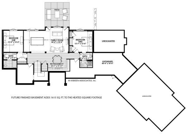 House Plan Design - Country Floor Plan - Lower Floor Plan #928-333