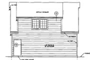Country Style House Plan - 1 Beds 1 Baths 450 Sq/Ft Plan #116-228 Exterior - Rear Elevation