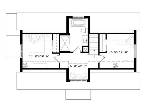 Contemporary Floor Plan - Upper Floor Plan Plan #23-2312