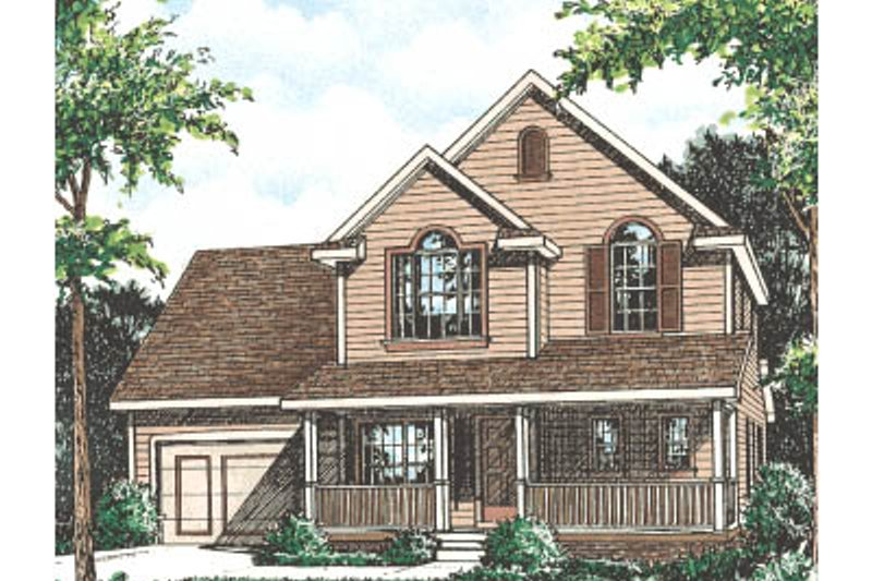 Architectural House Design - Traditional Exterior - Front Elevation Plan #20-2029