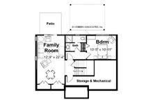 Farmhouse Floor Plan - Lower Floor Plan Plan #928-6