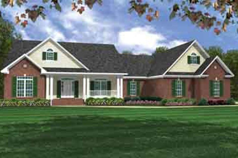 Traditional Exterior - Front Elevation Plan #21-178 - Houseplans.com