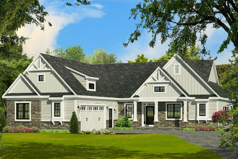Farmhouse Exterior - Front Elevation Plan #1010-244