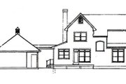 Country Style House Plan - 4 Beds 2.5 Baths 1597 Sq/Ft Plan #41-120 Exterior - Rear Elevation