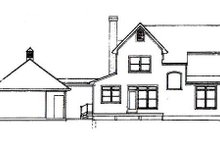 House Plan Design - Country Exterior - Rear Elevation Plan #41-120
