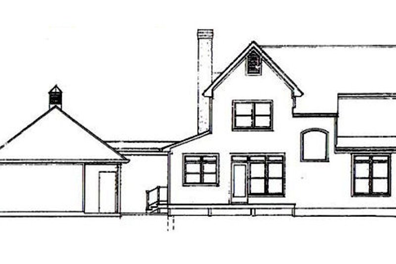 Country Exterior - Rear Elevation Plan #41-120 - Houseplans.com