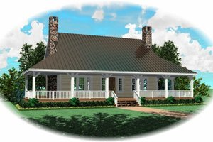Country Exterior - Front Elevation Plan #81-385